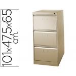Fichero cajones de suelo metálico de 3 cajones 101 alto,65 prof 47,5 ancho color beige Nº 34