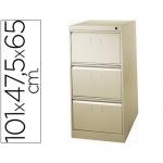 Fichero cajones de suelo metálico de 3 cajones 101 alto,65 prof 47,5 ancho color beige Nº 34 antivuelco