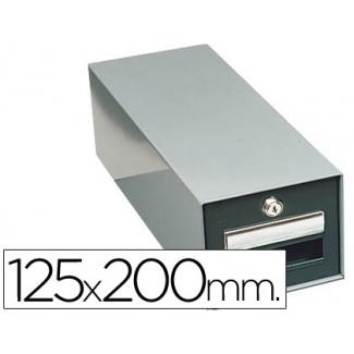 Fichero fichas metálico fichas con cerradura tamaño 125x200