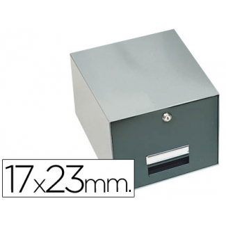 Fichero fichas metálico fichas con cerradura tamaño 17x23