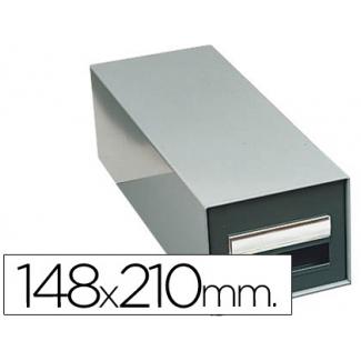 Fichero fichas metálico 1.000 fichas sin cerradura tamaño 148x210