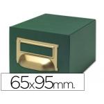 Liderpapel TV06 - Fichero de cartón para fichas, tamaño 65 x 95 mm Nº 1, capacidad para 500 fichas