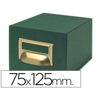 Liderpapel TV07 - Fichero de cartón para fichas, tamaño 75 x 125 mm Nº 2, capacidad para 500 fichas