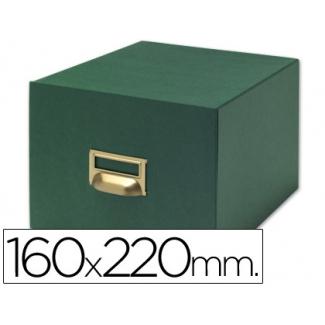 Liderpapel TV10 - Fichero de cartón para fichas, tamaño 160 x 220 mm Nº 5, capacidad para 500 fichas