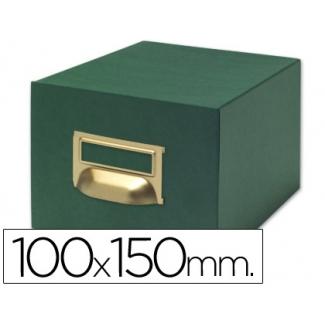 Liderpapel TV03 - Fichero de cartón para fichas, tamaño 100 x 150 mm Nº 3, capacidad para 1000 fichas