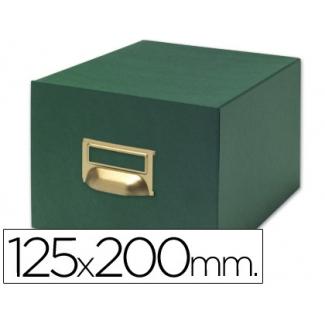 Liderpapel TV04 - Fichero de cartón para fichas, tamaño 125 x 200 mm Nº 4, capacidad para 1000 fichas