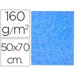 Fieltro Liderpapel 50x70 cm color azul claro 160 gr/m2