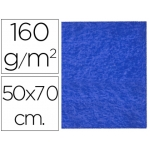 Fieltro Liderpapel 50x70 cm color azul oscuro 160 gr/m2