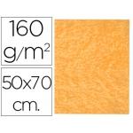 Fieltro Liderpapel 50x70 cm color naranja 160 gr/m2