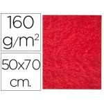Fieltro Liderpapel 50x70 cm color rojo 160 gr/m2