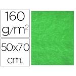 Fieltro Liderpapel 50x70 cm color verde 160 gr/m2