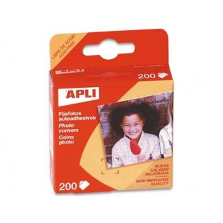 Apli 93 - Fijafotos adhesivos, caja de 200