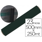 Film extensible manual bobina ancho 500 mm largo 250 mt espesor 23 micras color negro