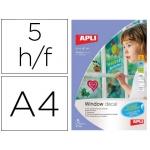 Film transparente apli para ventanas tamano A4 para impresora inkjet paquete de 5 hojas