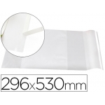 Forralibro Liderpapel con solapa ajustable adhesivo 296 x 530 mm