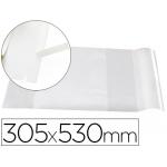 Forralibro Liderpapel con solapa ajustable adhesivo 305 x 530 mm