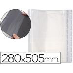Csp - Forralibro ajustable, con sistema de ajuste adhesivo, polipropileno, 280 x 505 mm