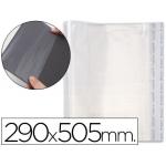 Csp - Forralibro ajustable, con sistema de ajuste adhesivo, polipropileno, 295 x 505 mm