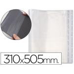 Csp - Forralibro ajustable, con sistema de ajuste adhesivo, polipropileno, 310 x 505 mm