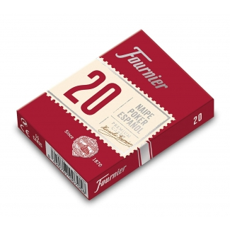 Fournier 20-54 - Baraja de cartas póker español, Nº 20, 54 cartas