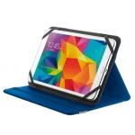 """Funda Trust primo universal para tablets 7-8"""" con soporte y cierre elastico color azul"""