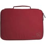 Funda Tucano youngster folder color roja en nailon suave efecto seda hasta 11,1