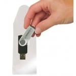 Funda autoadhesiva Q-connect para memorias usb capacidad para 10 unidades 52,5x 90 mm