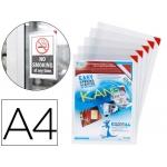Funda de presentación Tarifold adhesiva removible tamaño A4 con esquina magnética capacidad para 10 hojas pack 5 unidades