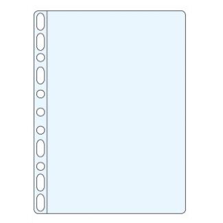 Esselte 623897 - Funda multitaladro, A4, 60 micras, piel de naranja, caja de 100 fundas