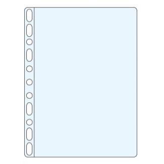 Funda multitaladro Esselte tamaño A4 polipropileno 80 micras 11 taladros cristal caja de 100 fundas