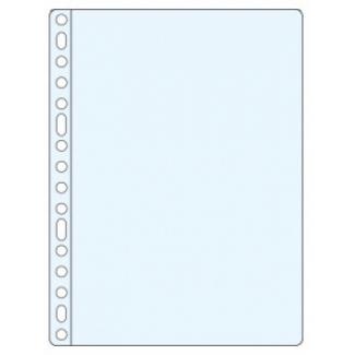 Esselte 46106 - Funda multitaladro, Folio, 80 micras, cristal, caja de 100 fundas