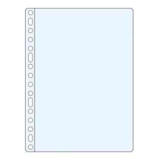 Funda multitaladro Esselte tamaño folio polipropileno 80 micras 16 taladros piel naranja caja de 100 fundas