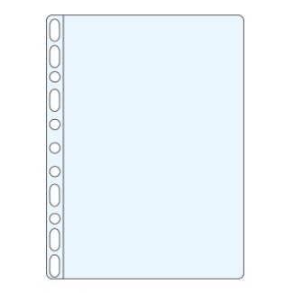 Q-Connect KF00311 - Funda multitaladro, A4, 50 micras, cristal, bolsa de 100 fundas