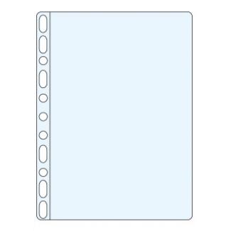 Q-Connect KF24001 - Funda multitaladro, A4, 50 micras, piel de naranja, caja de 100 fundas