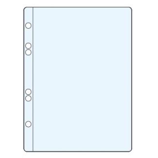 Funda multitaladro Q-connect tamaño A5 100 micras cristal 6 taladros caja de 100 fundas