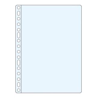 Funda multitaladro Q-connect tamaño folio 50 micras piel de naranja caja de 100 fundas