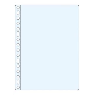 Funda multitaladro tamaño folio reforzada p.v.c 90 micras cristal