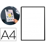 Funda para colgar Tarifold pvc tamaño A4 con banda magnética para colgar color negro pack de 5 unidades