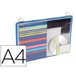 Funda para colgar Tarifold tamaño A4 anilla metálica formato horizontal pack de 5 unidades color azul