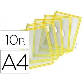 Funda para portacatalogo Tarifold tamaño A4 color amarillo pack de 10 unidades