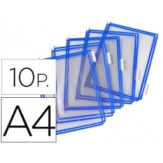 Funda para portacatalogo Tarifold tamaño A4 color azul pack de 10 unidades