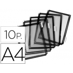 Funda para portacatalogo Tarifold tamaño A4 color negro pack de 10 unidades