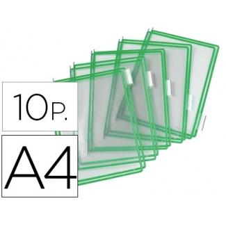 Funda para portacatalogo Tarifold tamaño A4 color verde pack de 10 unidades