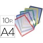 Funda para portacatalogo Tarifold tamaño A4 colores surtidos pack de 10 unidades