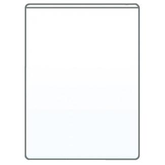 Q-Connect KF15079 - Funda portacarnet, transparente, plástico de 140 micras, tamaño cuarto 220 x 170 mm