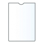 Esselte 46001 - Funda portadocumento, transparente, plástico de 140 micras, tamaño 87 x 56 mm