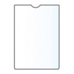 Q-Connect KF15579 - Funda portadocumento, A7 transparente, PVC de 150 micras, tamaño 74 x 105 mm