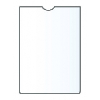 Funda portadocumento Q-connect A6 150 micras pvc transparente con uñero 74x105 mm