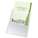 Q-Connect KF15576 - Funda portadocumento, A4, transparente, plástico de 150 micras, tamaño 210 x 297 mm