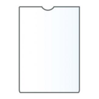Q-Connect KF15578 - Funda portadocumento, A6, transparente, plástico de 150 micras, tamaño 105 x 148 mm